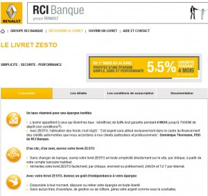 livret zesto taux promotionnels du livret zesto rci banque renault. Black Bedroom Furniture Sets. Home Design Ideas